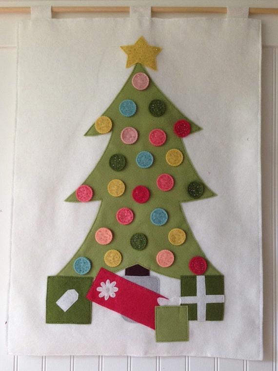 Advent Calendar Kit Felt Christmas Tree Advent Calendar