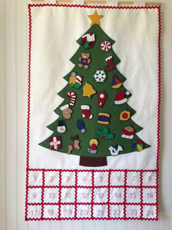 Christmas Tree felt advent calendar kit