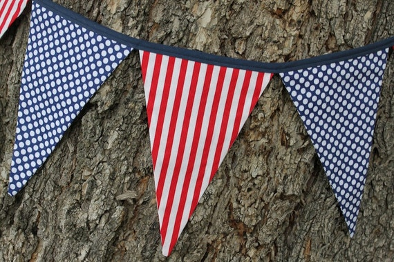 Cotton Fabric Pennant Flag Bunting Banner Garland Party Wall Hanging Decor PICK
