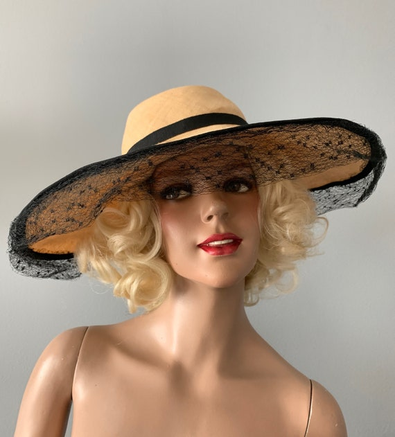 Forman's 40s wide brim natural, woven, straw, sun