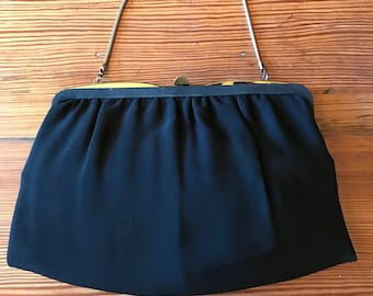 Elegant balck vintage evening bag, purse