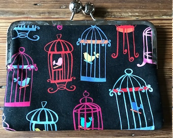 Ipad mini, tablet case, cover, purse, pouch with birdcages