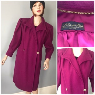 Fabulous L Air De Paris 40s purple box coat-Med-Lg