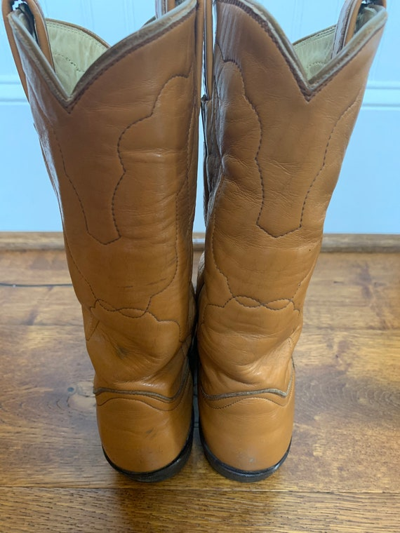 1960s Tony Lama brown rockabilly cowboy boots 5.5… - image 5