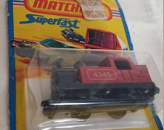 Matchbox die cast Superfast Red Train Engine in Original package