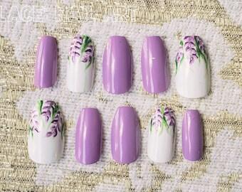 Flower Nails Etsy