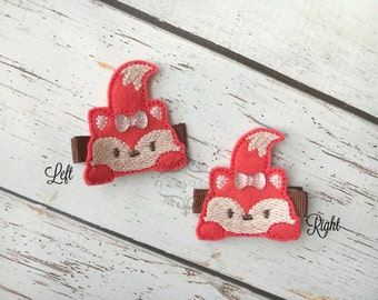 Fox Hair Clip Peeking Fox Hair Clip sweet fox Hair Clip Pick one or two. Pick Left side or Right.