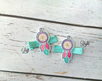Dream Catcher Hair Clip Dreamcatcher Hair Clip dream feathers Hair Clip Pick one or two. Pick Left side or Right.