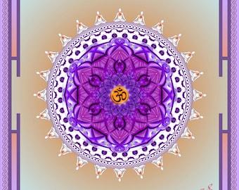 WHITE SANGHA - Tapestry, Wall Hanging - Pumayana Visionary Art, Spiritual, Psy, Shamanic, Sacred Geometry, Entheogenic Psychedelic Art