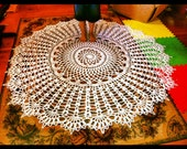 72 inch Giant Doily Rug Extra Thick Lace Tablecloth Crochet Throw Outdoor Rug Custom Amish Crochet Pattern Nursery Baby Room