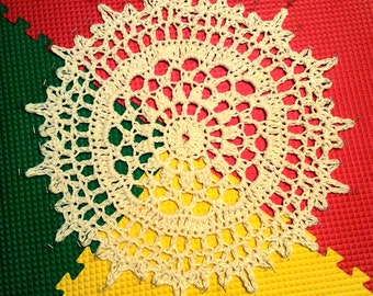 SAMPLE Giant Crochet Doily Rug Wedding Canopy Try Before You Buy Round Nursery Rug Kitchen Bathroom Photo Prop Canopy Bed