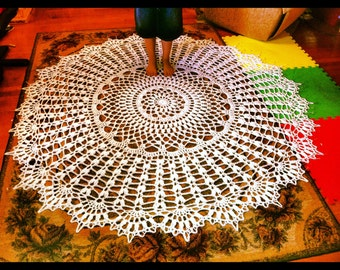 72 inch 6 foot Custom Giant Crochet Doily Rug Tablecloth Throw Summer Wedding Beach Party Nursery Xmas Christmas Holiday Winter Wedding