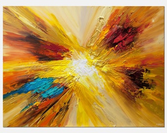 Modern Abstract Painting, Original Art and Wall Decor on Canvas by Osnat - MADE-TO-ORDER