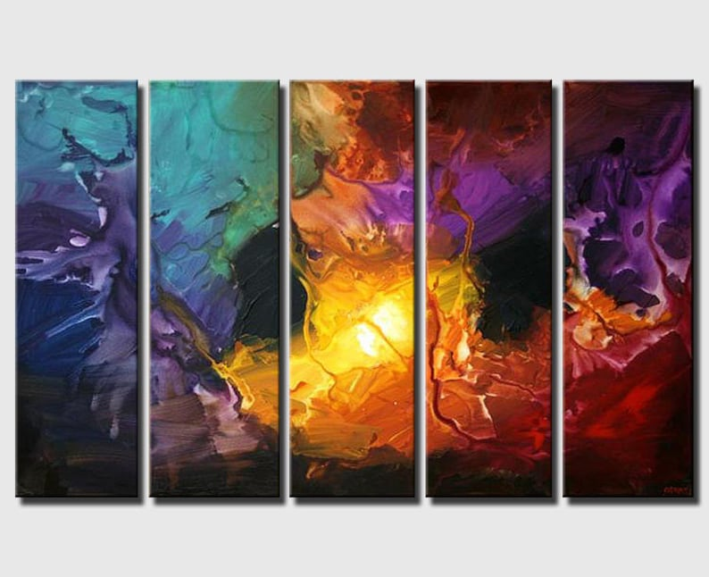 Modern Large Abstract Painting Modern Wall Art  Large Wall image 1