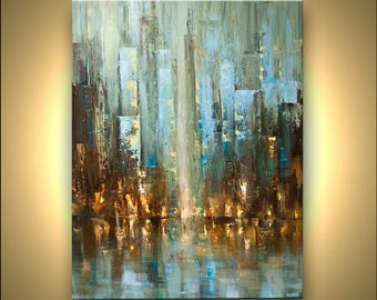 Canvas Art - Stretched, Embellished & Ready-to-Hang Print - Before the Rain - Art by Osnat