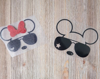 3a4367738e Mouse ears with Sunglasses on Transfer