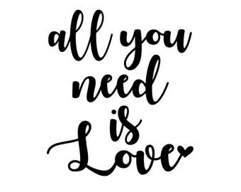 Download All you need is love svg | Etsy