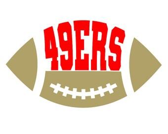 Football Logo Svg Sf 49ers Png Pdf Eps Dxf Football Etsy