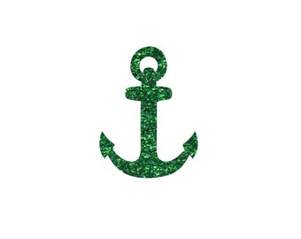 anchor kids iron on patch anchor heat transfer patch 8 anchors iron ons nautical baby shirt appliques glitter htv transfers