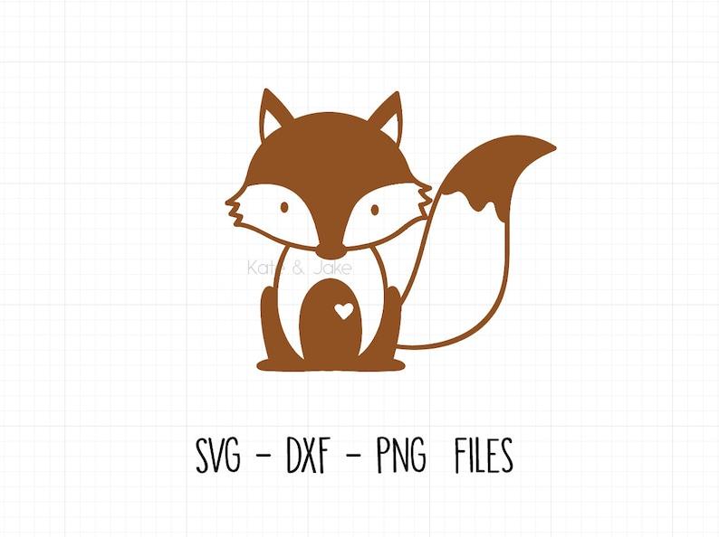 Digital Graphic Silhouette Cricut Fox SVG Cute fox graphic Baby Fox Svg Baby Onesie svg dxf png