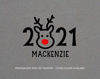 2021 Christmas iron on, Reindeer iron on transfer, christmas iron on, Christmas pajama iron on, Christmas family shirt diy