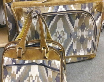 5005b7f461a7e Vintage French Company - Louis Vuitton 3 piece Luggage Collection Tapestry  And Suede