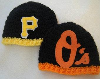 Crocheted Baseball Hats Pirates d500b4e9de0