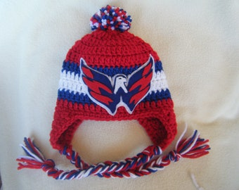 e63f95decc5 ... nhl basic 59fifty cap 53d4e 37990  new zealand crocheted washington  capitals inspired or choose your team baby beanie hat made to order