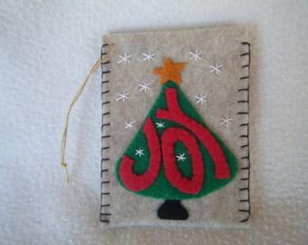 christmas card holder felt etsy