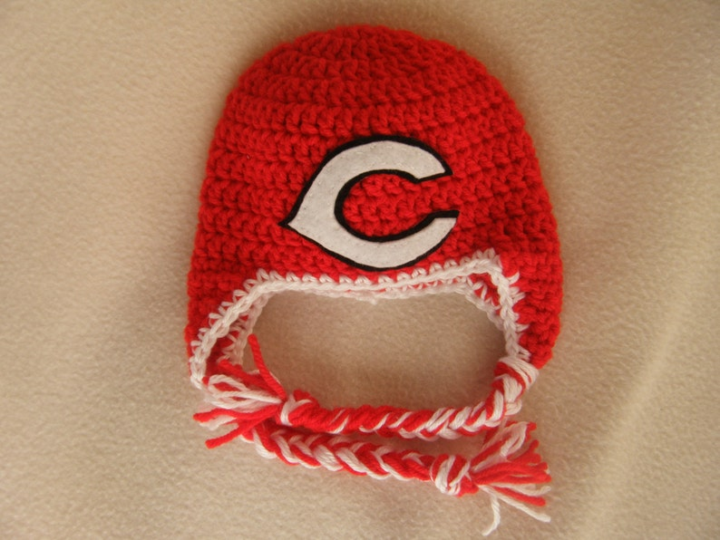 87425367 Crocheted Reds or Cardinals Inspired Baby Beanie/Hat - MADE TO ORDER -  Handmade by Me