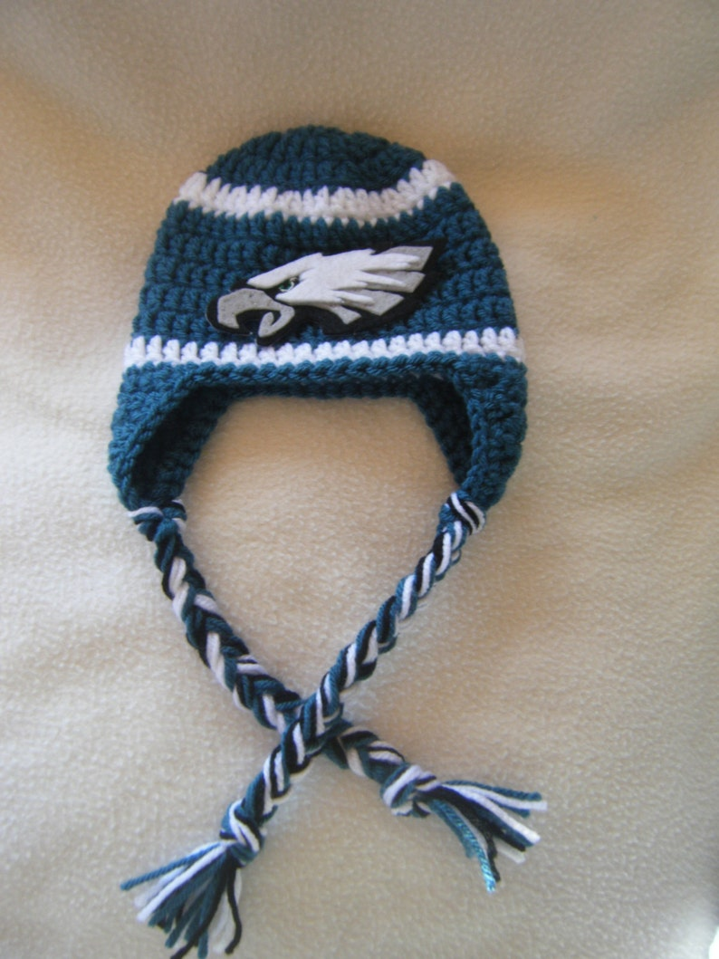 Or Choose Another Team These Are Made to Order Crocheted Eagle/'s  Inspired Hat /& Diaper Cover
