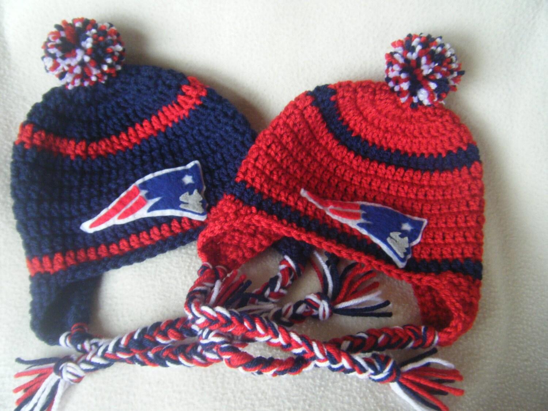 Crocheted Patriots Inspired Football Helmet Baby Girl Or Boy Etsy