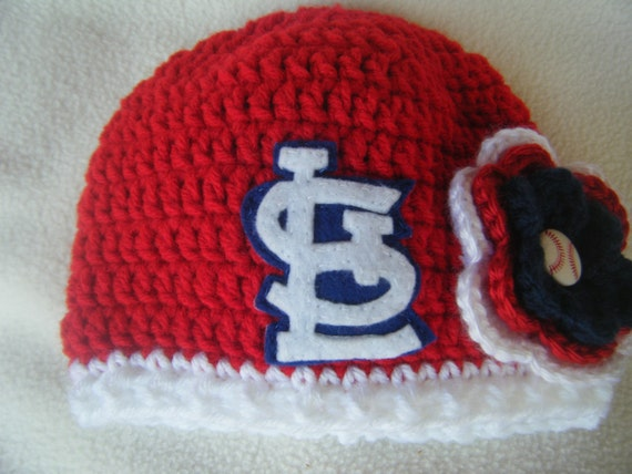 f9cc9e96 Crocheted Cardinals Inspired Baby Girl Beanie/Hat - MADE TO ORDER -  Handmade by Me