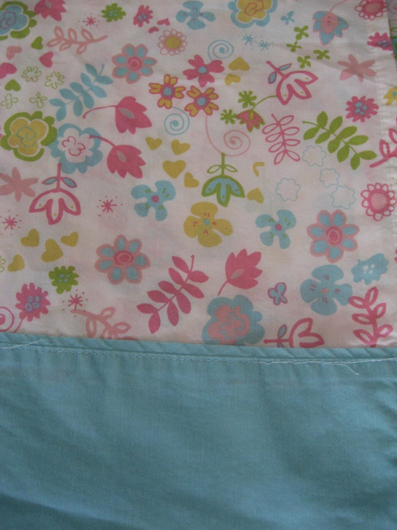 Vintage Double Flat Bed Sheet 6040 Cotton Blend Flower Etsy
