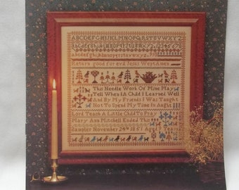 Sampler Vintage Cross Stitch Pattern Mary Ann Mitchell Sampler