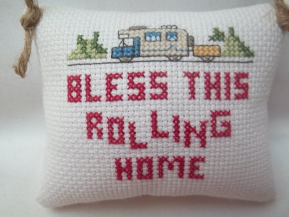 Retirement Camping Pillow Ornament Cross Stitch Door Pillow