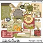 Welcome Home Digital Scrapbook Elements