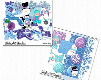 Snow Silly Digital Scrapbooking Elements