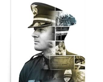 Police Peer Support Poster Art Officer Law Enforcement Stress PTSD Mental Health Movie Modern Large Sheriff Original Canvas
