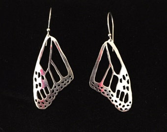 Made to Order: Monarch Butterfly Wing Earrings- top wing pattern