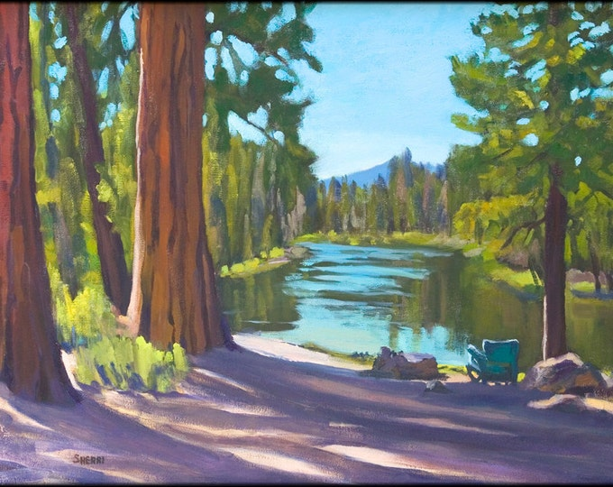 Dad's Place Deschutes River Campground Painting Reproduction