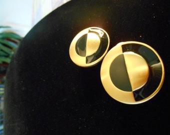 1970'S Anne Klein Circles Earrings