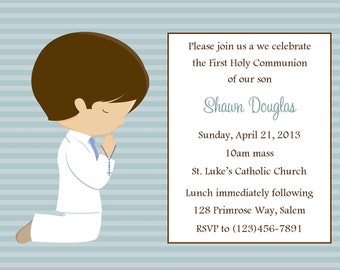first communion invitation boy digital file boys first etsy