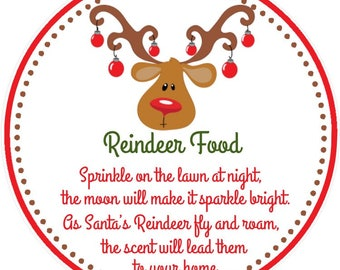 photograph about Printable Reindeer Food Tags referred to as Reindeer food items tags Etsy