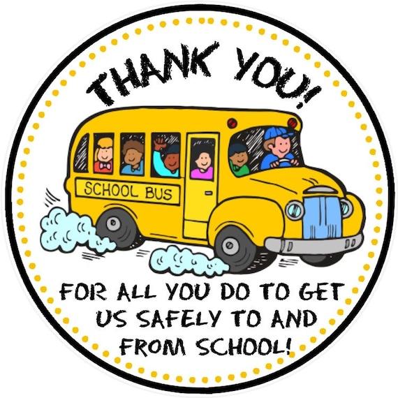 Comprehensive image for bus driver thank you card printable