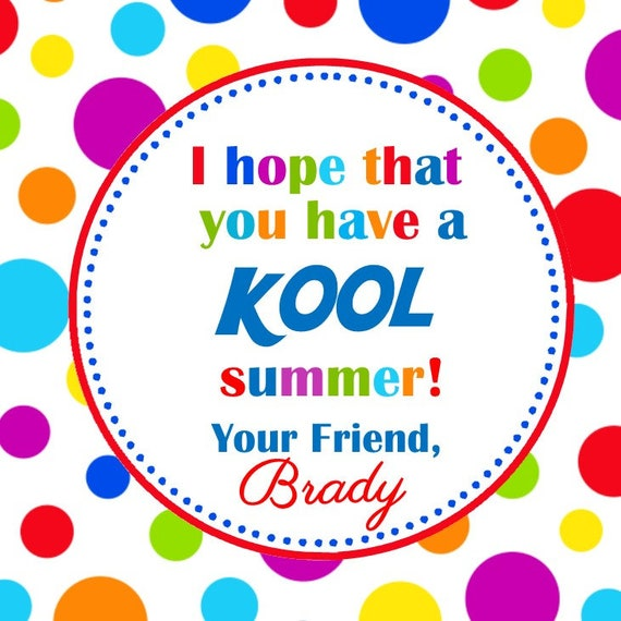 image regarding Have a Cool Summer Printable named PRINTABLE - Close of University Want Tag - Kool Summer months Prefer Tag
