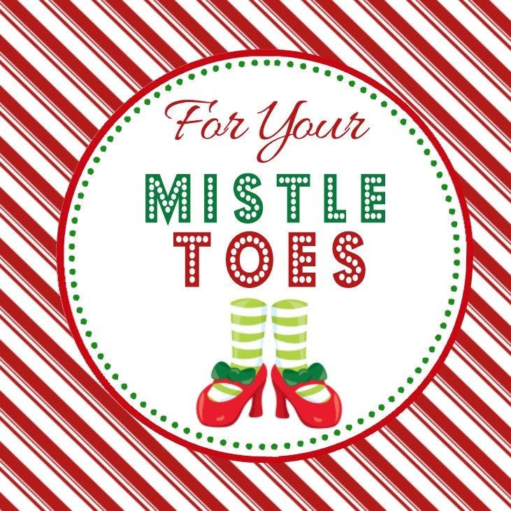 foto de Mistle Toes Favor Tag Digital File YOU PRINT Christmas Etsy