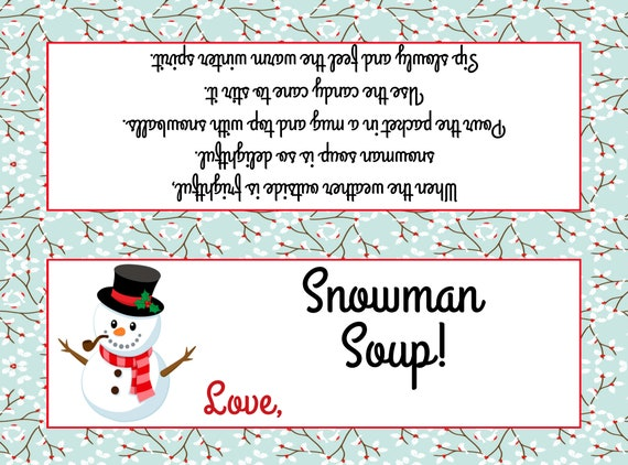 graphic relating to Snowman Soup Printable titled Snowman Soup Bag Topper ( Suits Plastic sandwich luggage) - Printable History - Fast Obtain / Snowman Soup Desire / Snowman Soup Printable