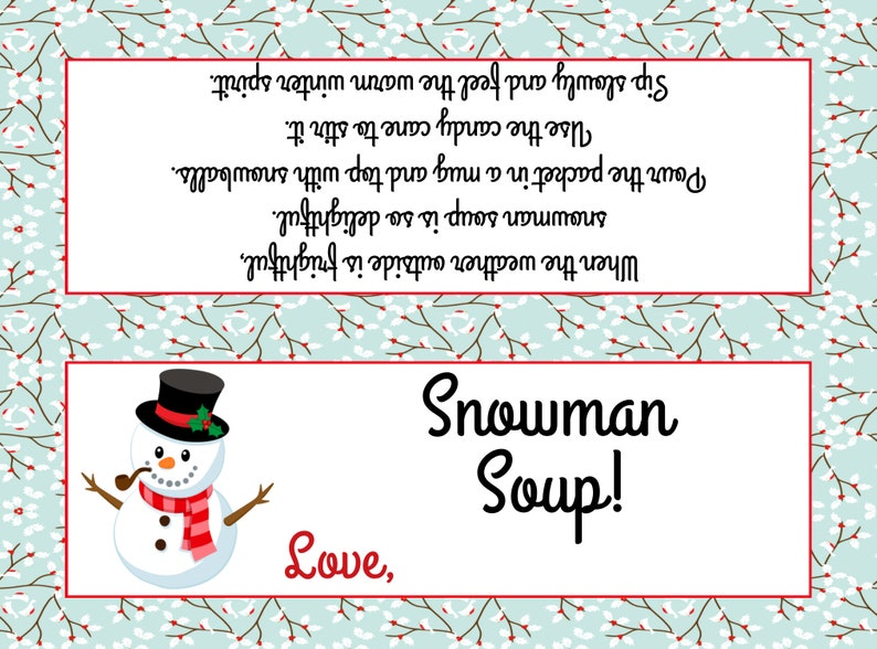 graphic about Snowman Soup Free Printable Bag Toppers called Snowman Soup Bag Topper ( Suits Plastic sandwich luggage) - Printable Report - Immediate Obtain / Snowman Soup Like / Snowman Soup Printable