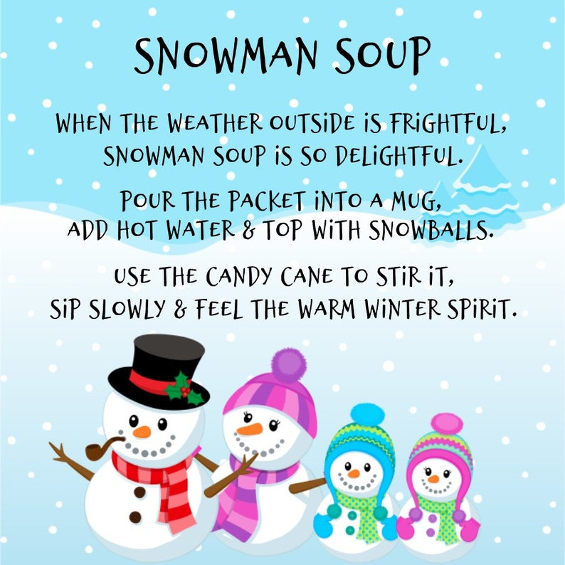 It's just a picture of Snowman Soup Printable inside january